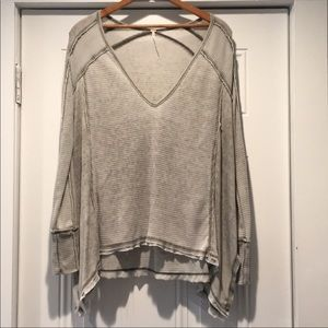 Free People Thermal drippy Soft  Top XS